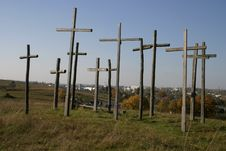 Free Group Of Crosses Royalty Free Stock Image - 5268406