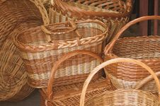 Free Rattan Baskets Stock Image - 5268621