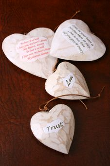 Free Wooden Hearts Royalty Free Stock Photo - 5269195