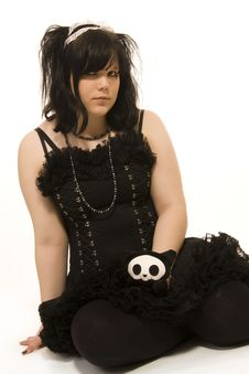 Free Pierced Girl Of Gothic Style Royalty Free Stock Image - 5269296