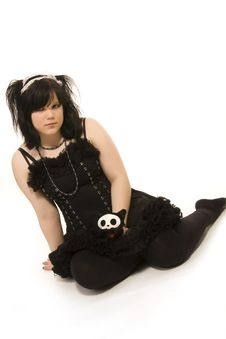 Free Pierced Girl Of Gothic Style Royalty Free Stock Photos - 5269308