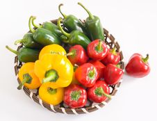 Free Basket Of Chillies Royalty Free Stock Photography - 5269607