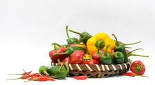 Free Basket Of Chillies Royalty Free Stock Photo - 5269615