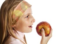 Free Teenager With Apple Royalty Free Stock Photo - 5269755