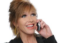 Free Businesswoman On The Cell Stock Photo - 5269970