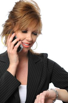 Free Businesswoman On The Cell Phone Royalty Free Stock Photo - 5269975