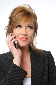 Free Businesswoman On The Cell Phone Royalty Free Stock Image - 5269976