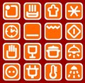 Free Red Household Icons Stock Photography - 5270022