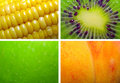 Free Texture Corn, Kiwi, Apple, Peach Stock Images - 5274154
