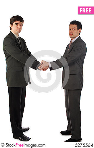 Free Two Young Man Handshake Stock Images - 5275564
