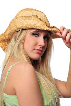 Free Beautiful Cowgirl Teen Royalty Free Stock Photo - 5270155