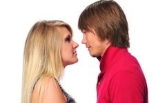 Free Young Couple Looking At Each Other Royalty Free Stock Photo - 5270175