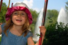 Free Happy Swinging Girl Stock Photography - 5270452