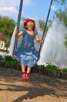 Free Fun On Swing Royalty Free Stock Photos - 5270758