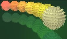 Free Unusual Prickly Spheres Royalty Free Stock Images - 5271329