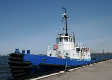 Free Blue Tugboat Stock Photos - 5271873
