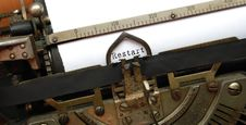 Free Restart, Old Typewriter Royalty Free Stock Images - 5271989