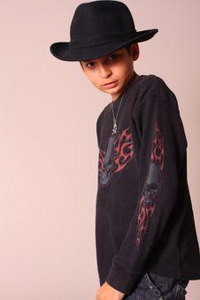 Free Boy Wearing Grungy Gothic Clothing Royalty Free Stock Photo - 5272645