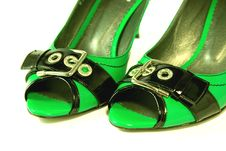 Free Green High-heeled Shoes Royalty Free Stock Image - 5272646