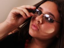 Free Teen With Reading Glasses Stock Photo - 5272670