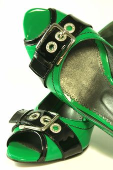 Free Green High-heeled Shoes Stock Photos - 5272733