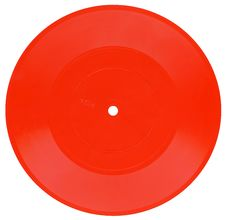 Free Red Vintage Vinyl Record Royalty Free Stock Photography - 5272927