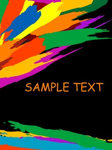 Free Grunge Colorful Splashing, Vec Royalty Free Stock Images - 5273209
