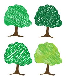 Vector Tree Design Stock Photography