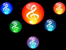 Free Treble Clef Vector Illustration Royalty Free Stock Photos - 5273598