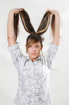 Free Hair In Hands Royalty Free Stock Images - 5273609