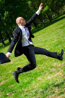 Free Long Jump. Stock Image - 5273631