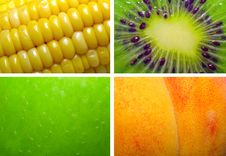 Free Texture Corn, Kiwi, Apple, Peach Stock Images - 5274154