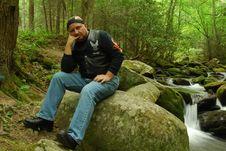 Free Sitting By Mountain Stream Stock Photo - 5274220