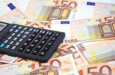 Free The Calculator Atop Of Euro Banknotes Stock Photos - 5274243