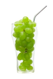 Grape In The Glass Stock Photography