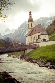 Free Ramsau Chruch Royalty Free Stock Photos - 5274968