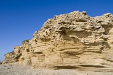 Free Coarse Sand Cliff Stock Photography - 5275252