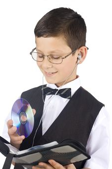 Free Young Boy With Cd Stock Photos - 5275683