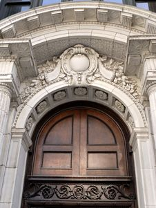 Free Corinthian Door Detail Stock Photography - 5276212