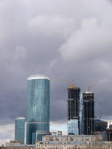 Free New Buildings In Moscow. Construction. Stock Photography - 5276902