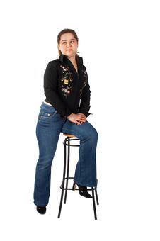Free Girl Sits On Stool Stock Photos - 5276973