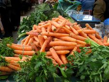 Free Carrot Vegetable Selling At Piazza Place Stock Photos - 5277243