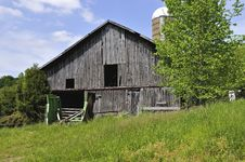 Old Barn And Silo Stock Photo