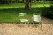 Free Two Chairs In The Park Stock Images - 5277374
