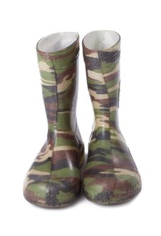 Free Camouflage Gum Boots Stock Photography - 5277992
