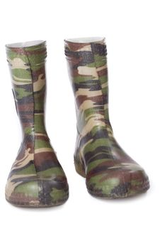 Free Camouflage Gum Boots Stock Photos - 5277993