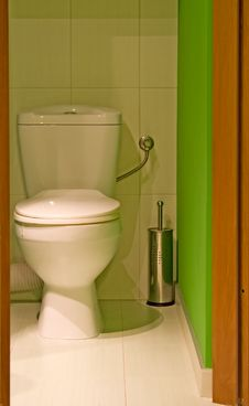 Free Green Toilet Royalty Free Stock Images - 5278009