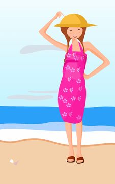 Free A Little Girl On The Seaside Royalty Free Stock Photography - 5279247