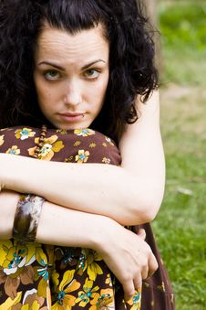 Free Pensive Curly Woman Stock Photos - 5279643