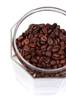 Coffee Beans In A Jar, Close-up Stock Images